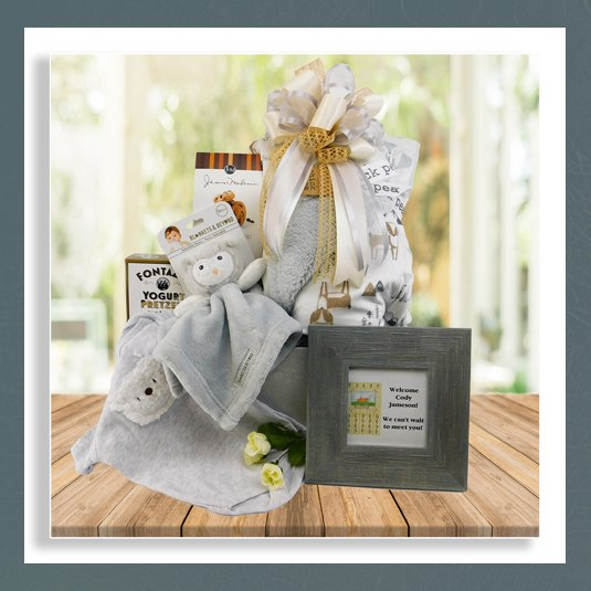 baby boy gift basket delivered
