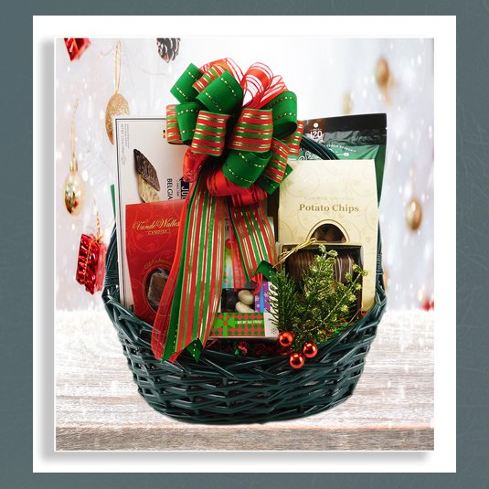 sweets holiday gift basket
