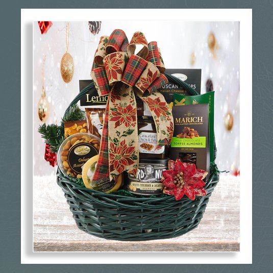 Corporate christmas basket