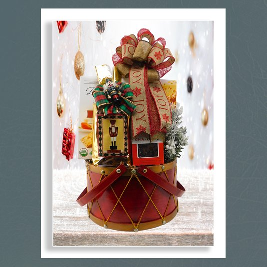 Christmas nutcracker basket
