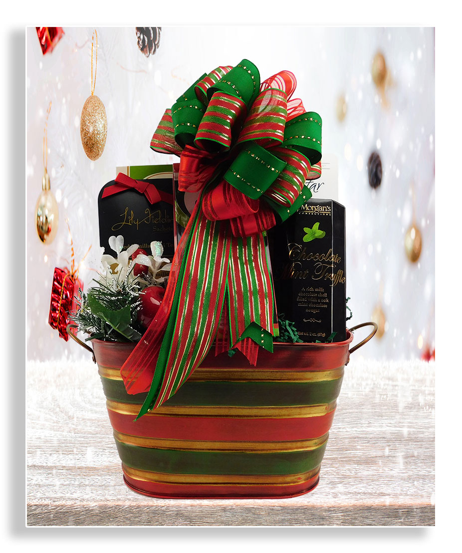 sweet and savory holiday baskets