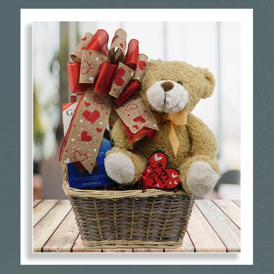 San Diego teddy bear basket