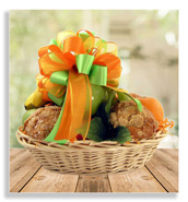fresh fruit and muffin basket