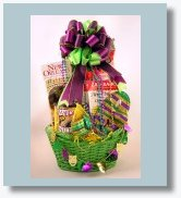 Mardi Gras Fat Tuesday party basket